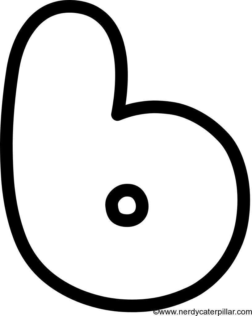 Lowercase Bubble Letter b