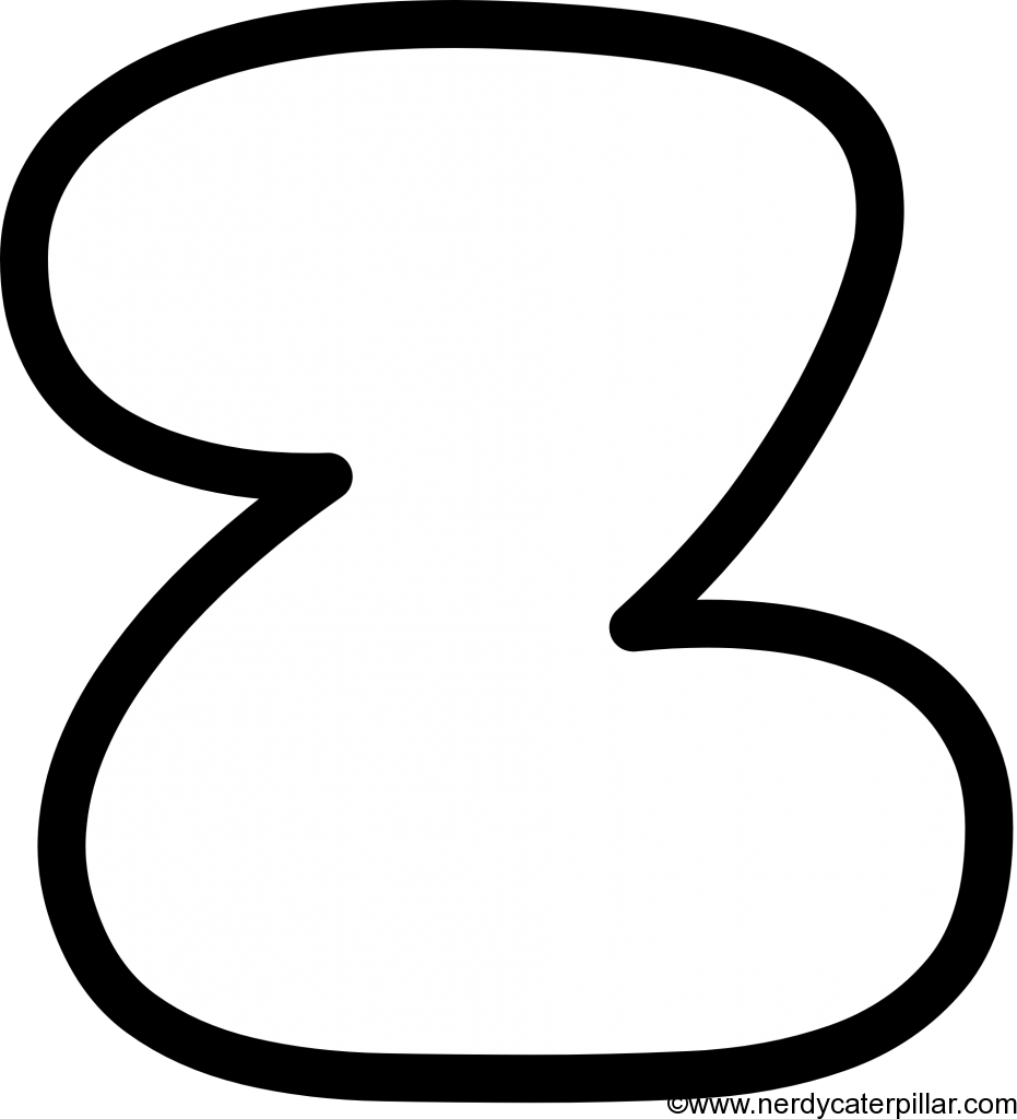 Lowercase Bubble Letter z