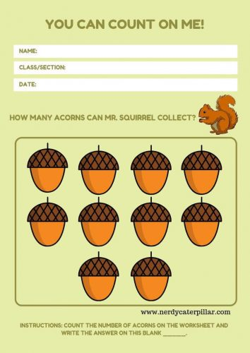 Counting Math Worksheet For Preschoolers