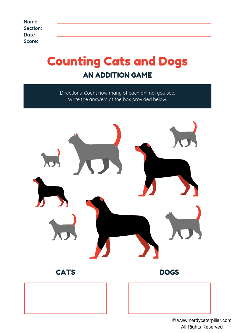 Counting Numbers Worksheet With Pictures