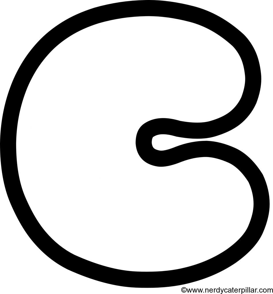 Lowercase Bubble Letter c