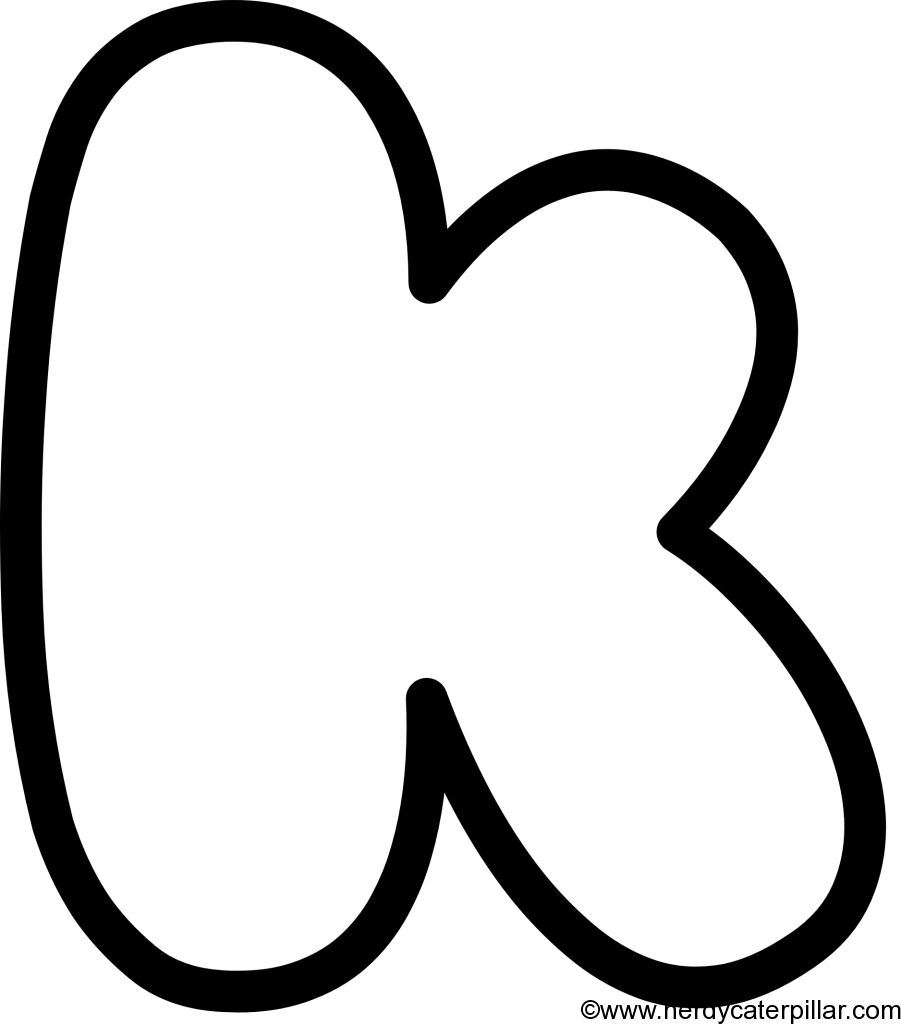 Lowercase Bubble Letter k