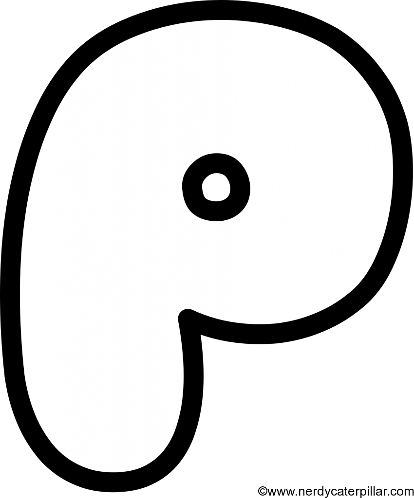 Lowercase Bubble Letter p
