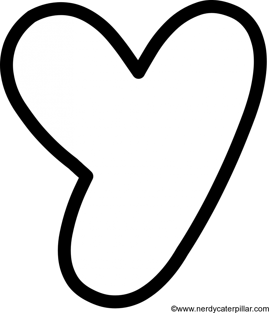 Lowercase Bubble Letter y