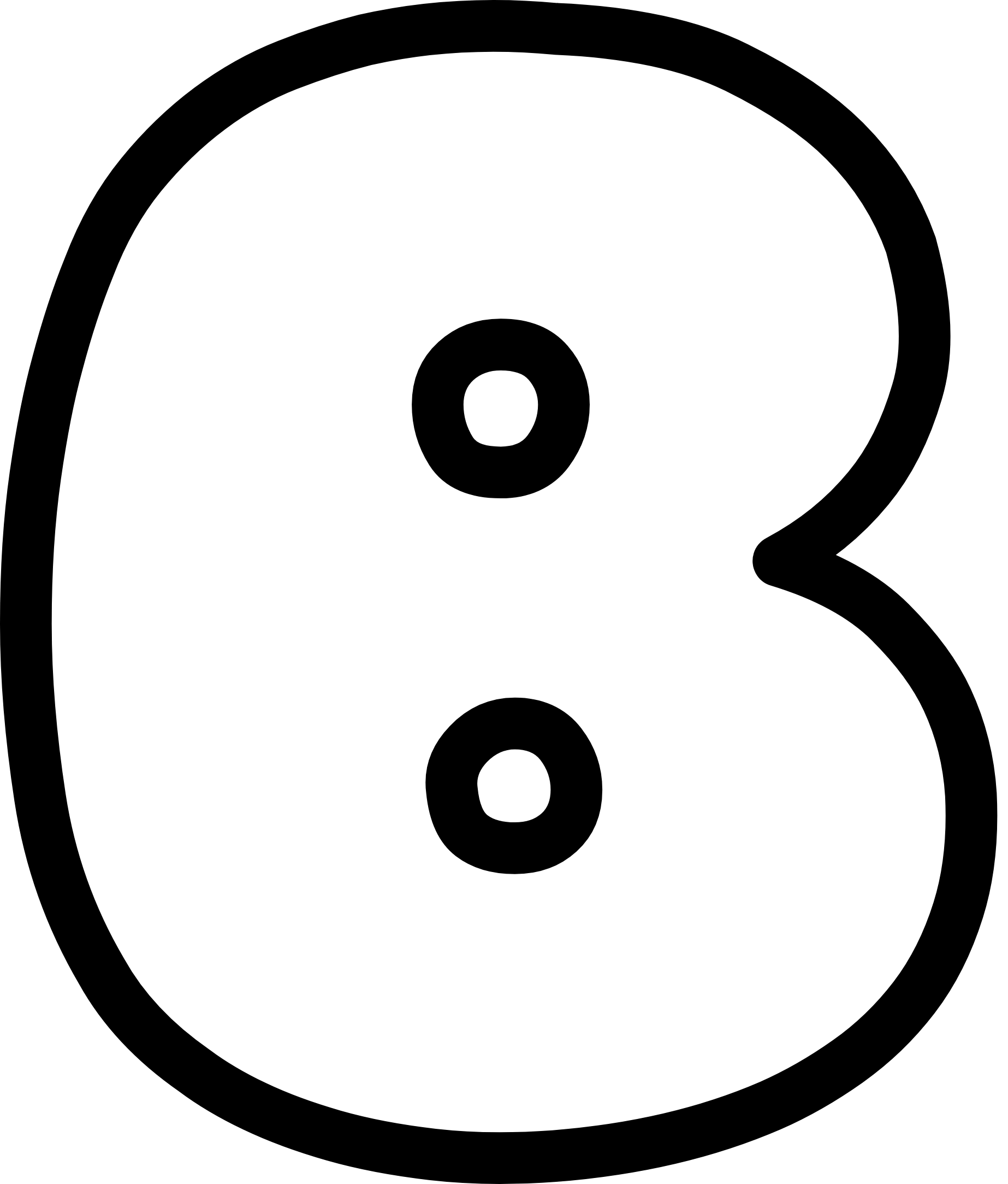 Uppercase Bubble Letter B