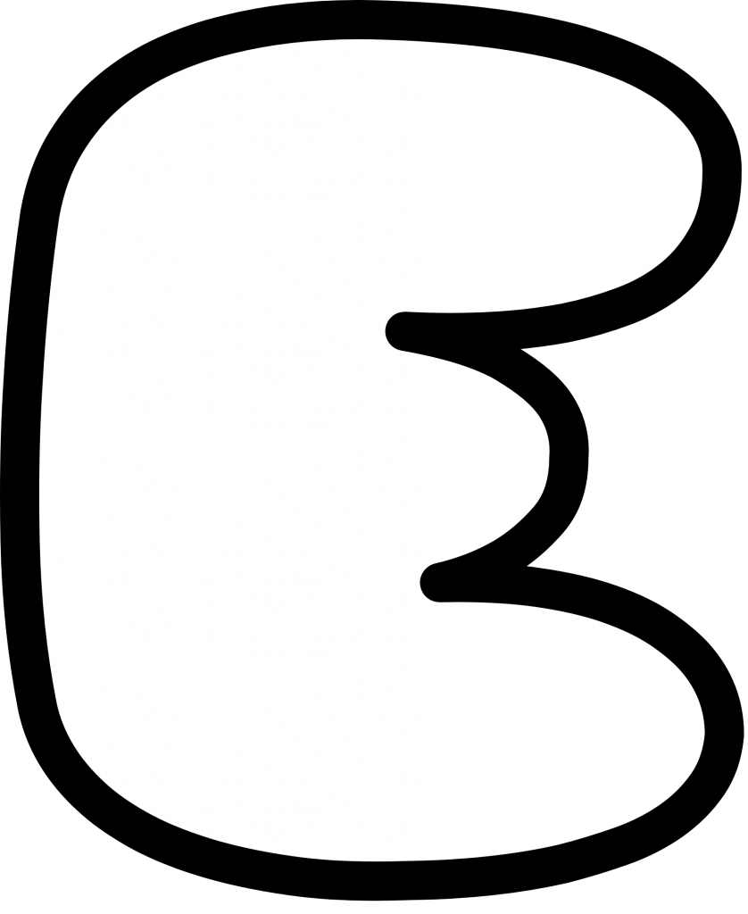 Uppercase Bubble Letter E