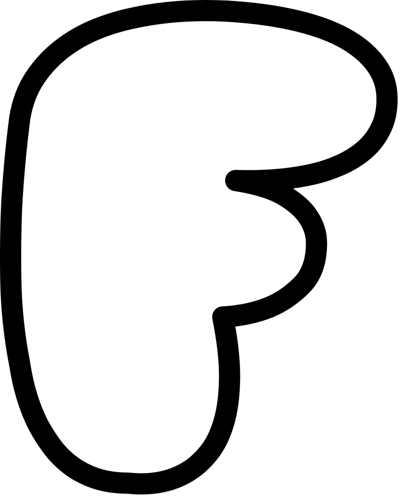 Uppercase Bubble Letter F