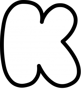 Uppercase Bubble Letter K