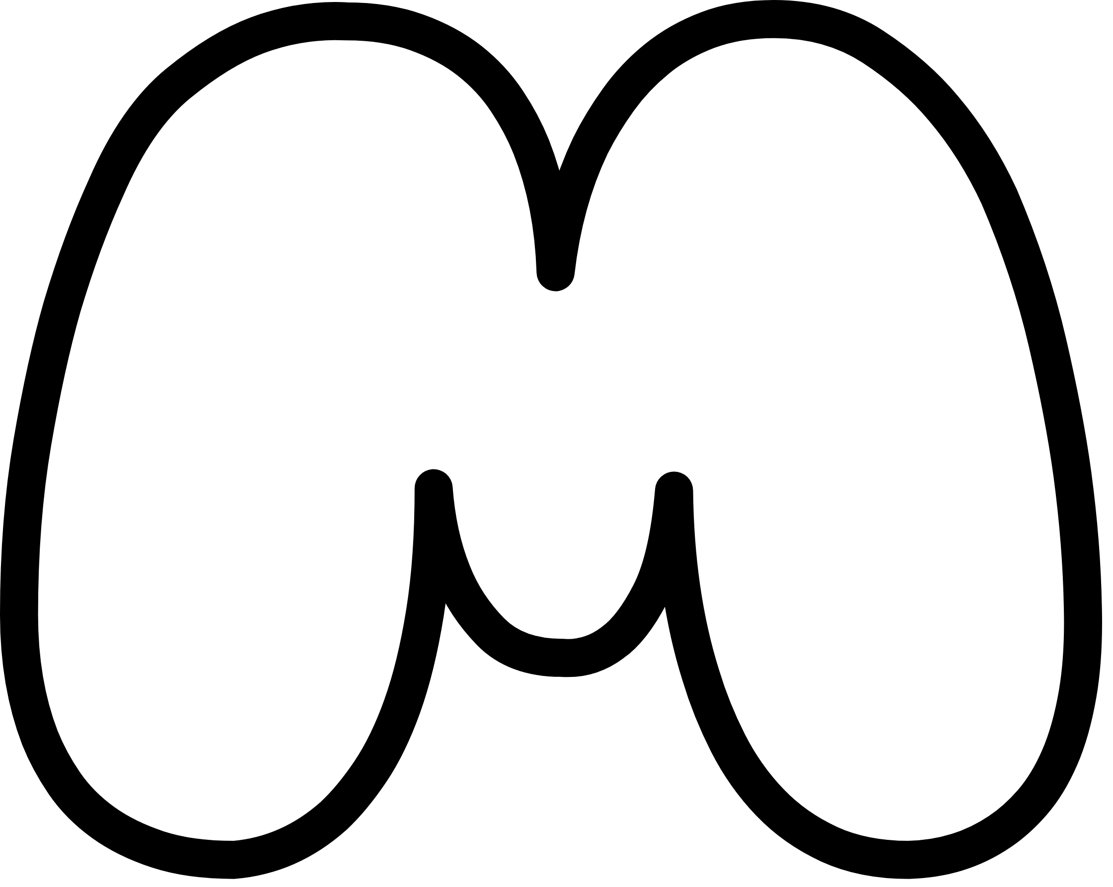 Uppercase Bubble Letter M