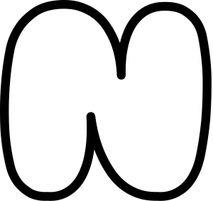 Uppercase Bubble Letter N