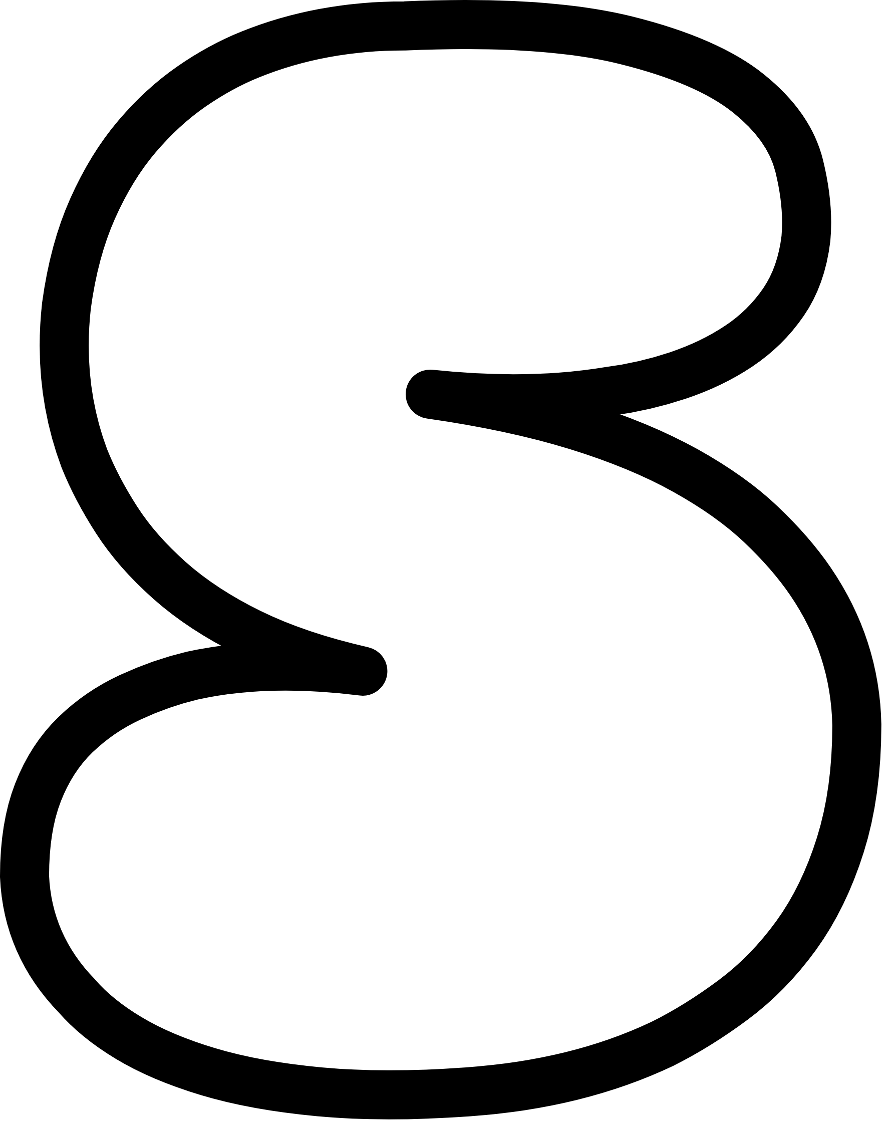 Uppercase Bubble Letter S