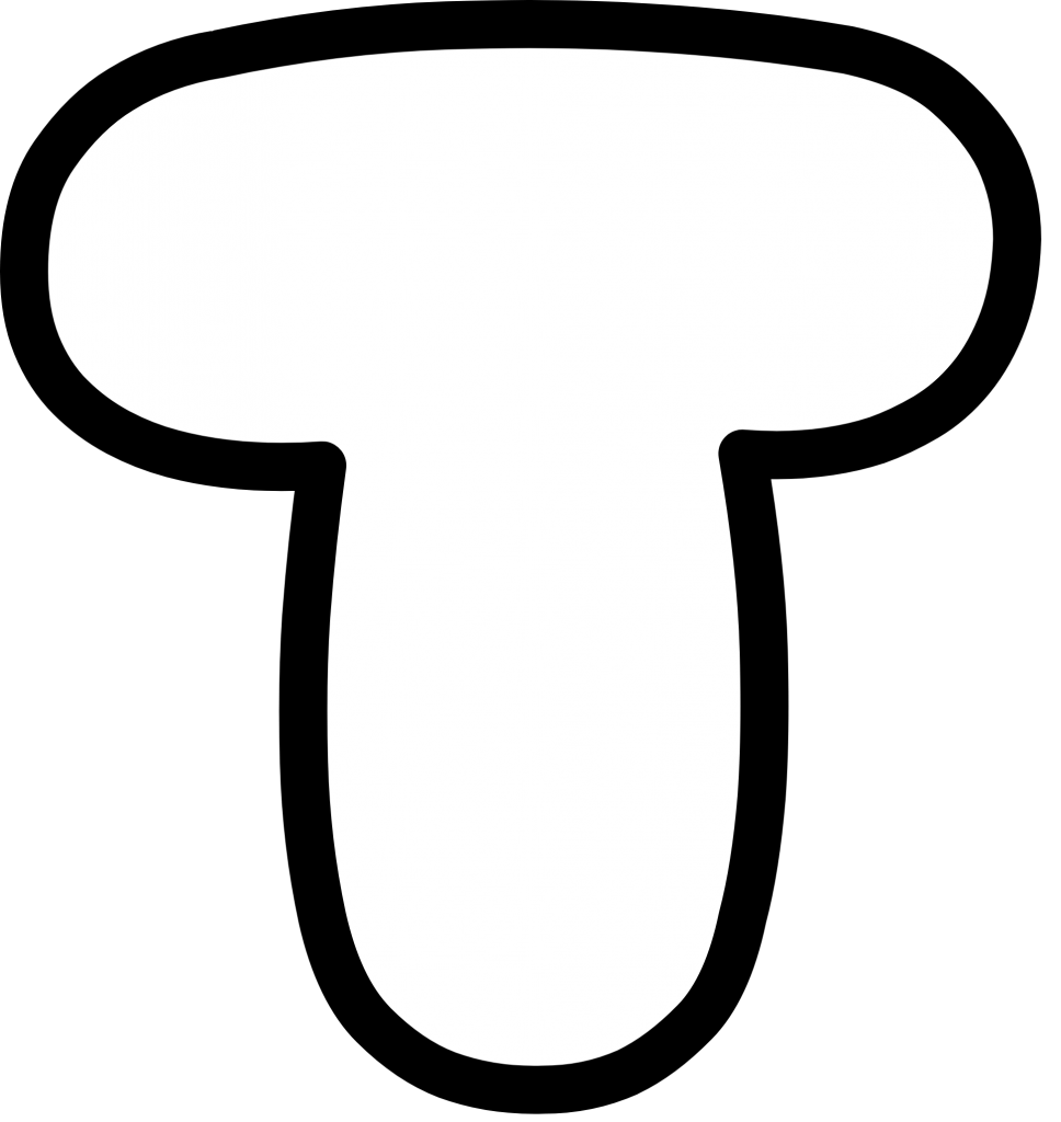 Uppercase Bubble Letter T