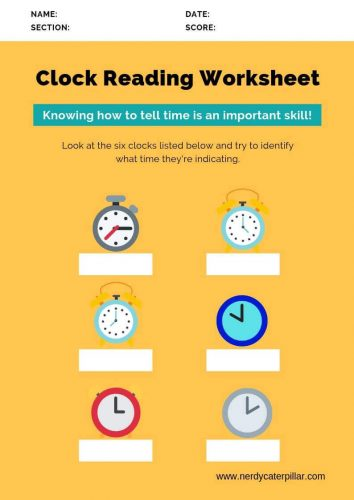 Clock Reading Worksheet For Kindergarten
