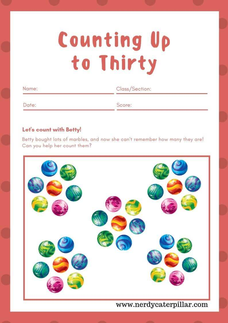 Free Counting Math Worksheet