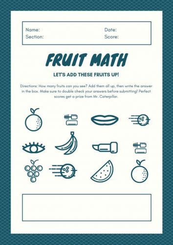 Free Kindergarten Math Worksheet PDF