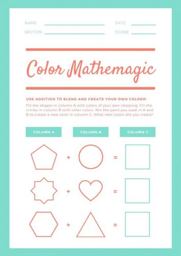 Free Kindergarten Shape Worksheet