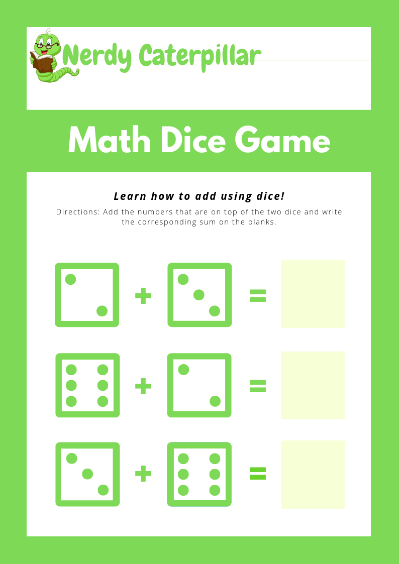 Math Addition Worksheet Printable