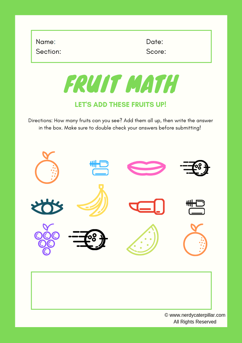 Math Worksheets For Children