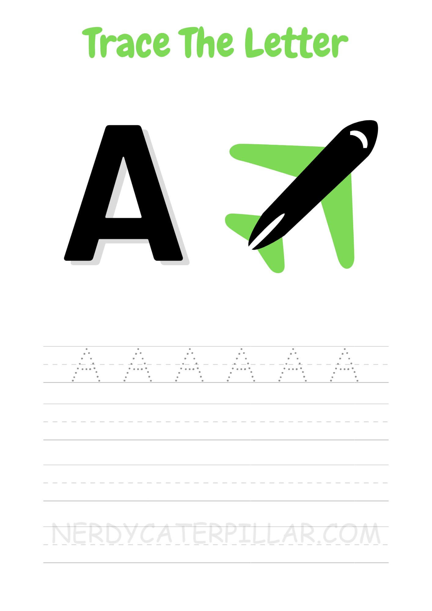 A for Airplane worksheet