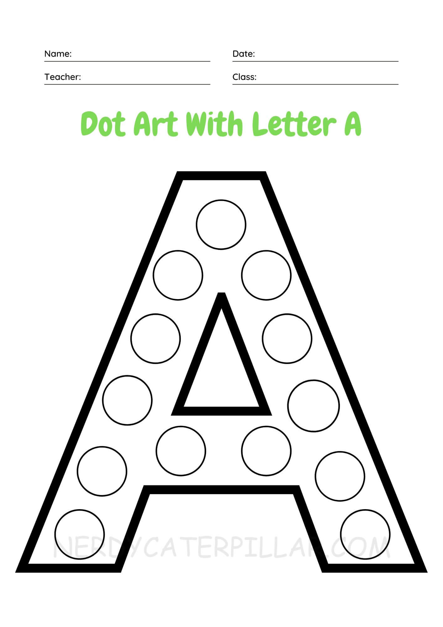 Dot Art With Letter A