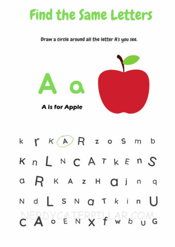 Letter A worksheet printable