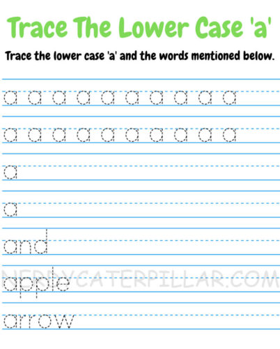 Trace Lower case a worksheet