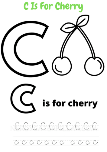 C for Cherry worksheet
