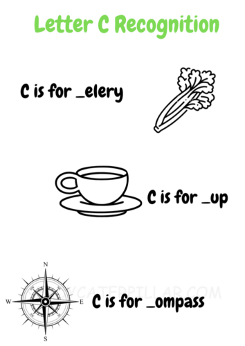 Letter C Recognition Worksheet
